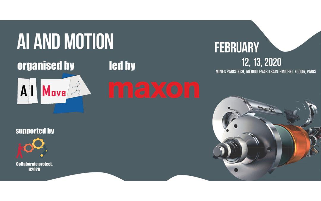 2-days seminar by AIMove & Maxon France: 'AI and Motion'